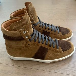 Saint Laurent hi-top suede sneakers